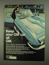 1968 General Motors Parts Ad - Keep Your Car All GM - $14.99