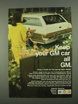 1968 General Motors Parts Ad - Keep Your GM Car All GM - $14.99