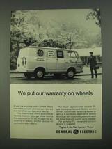 1968 General Electric Service Ad - Warranty on Wheels - $14.99