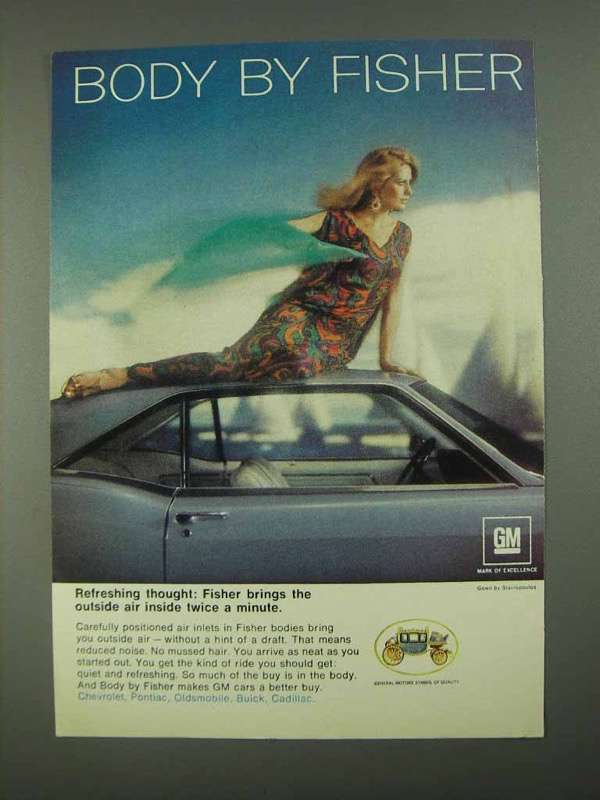1968 GM Body by Fisher Ad - Refreshing Thought - $14.99