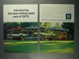 1968 GM Cars Ad - Best Selling Used Cars of 1970 - $14.99