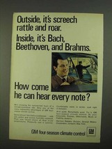 1968 GM Four-Season Climate Control Ad - Inside Bach - $14.99