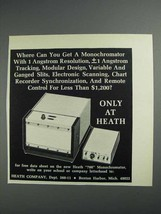 1968 Heath Company 700 Monochromator Ad - $14.99