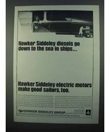 1968 Hawker Siddeley Diesels and Electric Motors Ad - $14.99