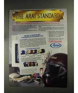 1992 Arai Helmets Ad - The Arai Standard - $14.99