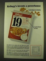1968 Kellogg's Product 19 Cereal Ad - A Powerhouse - $14.99