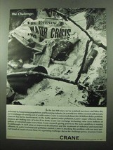 1969 Crane Water Treatment Ad - Water Crisis - $14.99