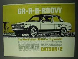 1969 Datsun 2 Door Car Ad - Gr-R-R-Roovy - $14.99