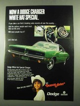 1969 Dodge Charger Ad - White Hat Special - $14.99
