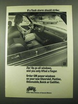 1969 Fisher Body GM Ad - If a Flash Storm Should Strike - $14.99