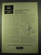 1969 Ford Motor Company Ad - Nuclear Relaxation in Iron - $14.99
