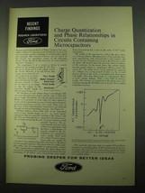 1969 Ford Motor Company Ad - Circuits Microcapacitors - $14.99