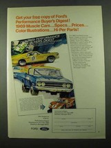1969 Ford Muscle Cars Ad - $14.99