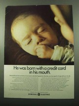 1969 General Electric Ad - Born With a Credit Card - $14.99