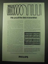 1969 Philips Research Laboratories Ad, Data Transmitter - $14.99