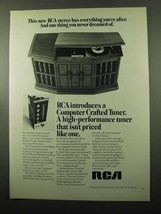 1969 RCA Computer Crafted Tuner Ad - Dreamed Of - $14.99