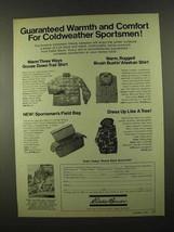 1974 Eddie Bauer Ad - Trail Shirt, Alaskan Shirt + - $14.99
