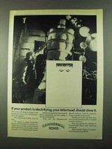 1974 Hammermill Bond Paper Ad - Product Electrifying - $14.99