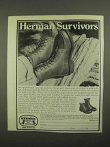1974 Herman Survivors Boots Ad - $14.99