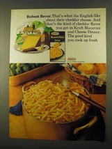 1974 Kraft Macaroni & Cheese Ad - Robust Flavor - $14.99