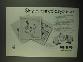 1974 Philips Sun Lamp Ad - Stay As Tanned As You Are - $14.99