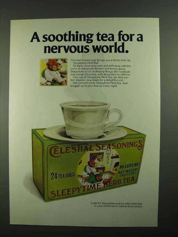 1981 Celestial Seasonings Sleepytime Herb Tea Ad - $14.99