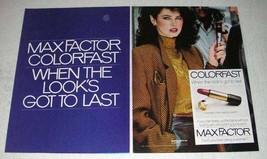 1981 Max Factor Colofast Long-Lasting Lipstick Ad - $14.99