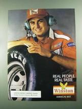 1988 Winston Cigarettes Ad - Real Taste - $14.99