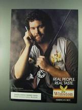 1988 Winston Cigarettes Ad - Real People Real Taste - NICE - $14.99