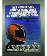1989 Arai Helmet Ad - Sceptre, Kevin Schwantz Replica - $14.99