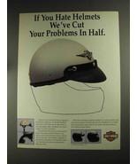 1992 Harley-Davidson Sportsman III Half-Shell Helmet Ad - $14.99