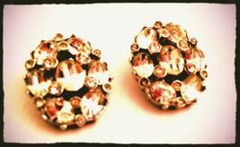 Bellini Vintage Jewelry Rhinestones Clip on Earrings - $35.00