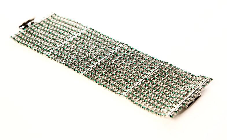 Robertagreenrhinestonebracelet