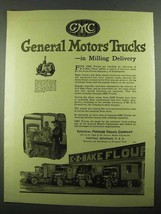 1919 GMC General Motors Trucks Ad - in Milling Delivery - $14.99