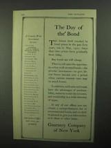 1921 Guaranty Company of New York Ad - Day of Bond - $14.99