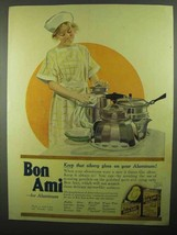 1920 Bon Ami Ad - Keep that Silvery Gloss on Aluminum - $14.99