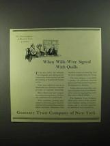 1921 Guaranty Trust Company of New York Ad - Wills - $14.99