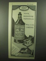 1920 Carter's Ink Writing Fluid Ad - Your Signature - $14.99
