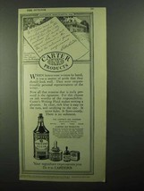 1920 Carter's Ink Writing Fluid Ad - NICE - $14.99