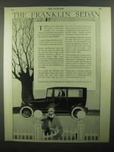 1920 Franklin Sedan Ad - NICE - $14.99