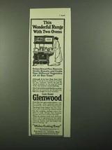 1920 Glenwood Range Ad - Wonderful with Two Ovens - $14.99