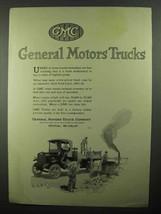 1920 GMC General Motors Trucks Ad - Road Brick Layers - $14.99
