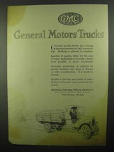 1920 GMC General Motors Trucks Ad - $14.99