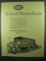 1920 GMC General Motors Trucks Ad - Inter-City Hauling - $14.99