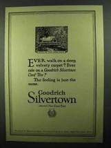 1920 Goodrich Silvertown Tires Ad - Best in Long Run - $14.99