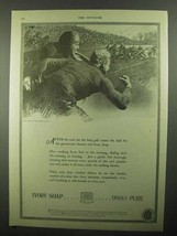 1920 Ivory Soap Ad - The Rush for the Final Goal - $14.99