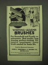 1922 Whiting-Adams Brushes Ad - Household and Family - $14.99