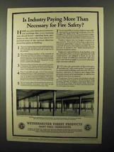 1922 Weyerhaeuser Forest Products Ad - Fire Safety - $14.99