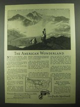 1923 Burlington, Great Northern, Northern Pacific RR Ad - $14.99