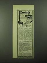 1923 Canadian National Railways Ad - Ocean Voyage - $14.99